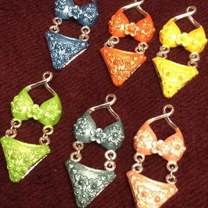 Jewelry - Bikini 👙 pendant blue orange yellow green pink